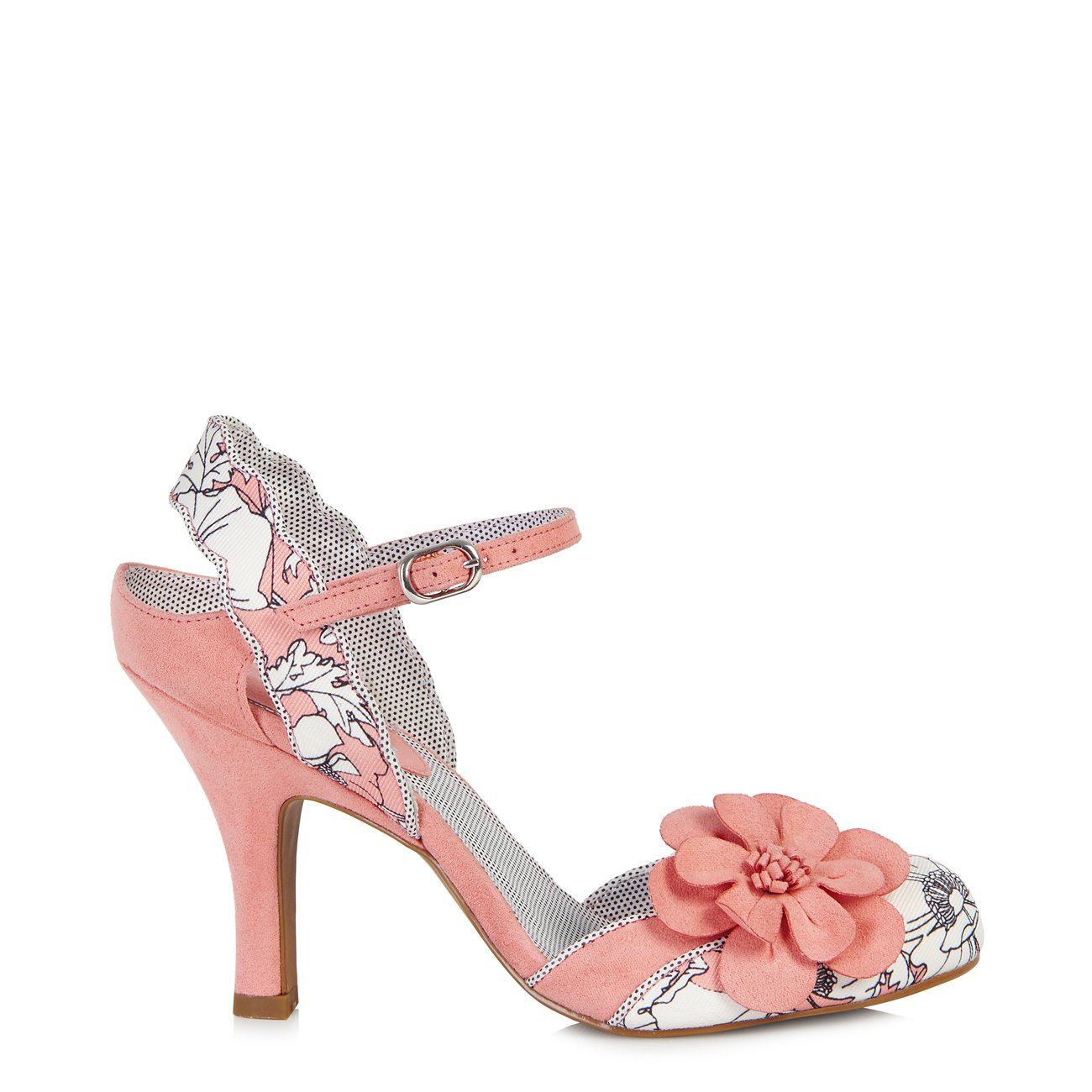 Ruby Shoo Women's Peach Floral Heidi Fabric Slingback Pumps & Rio Bag UK 5 EU 38 by Ruby Shoo (Image #3)