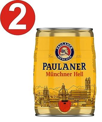 2 x Paulaner Munich Mini Keg Beer 5 Litre