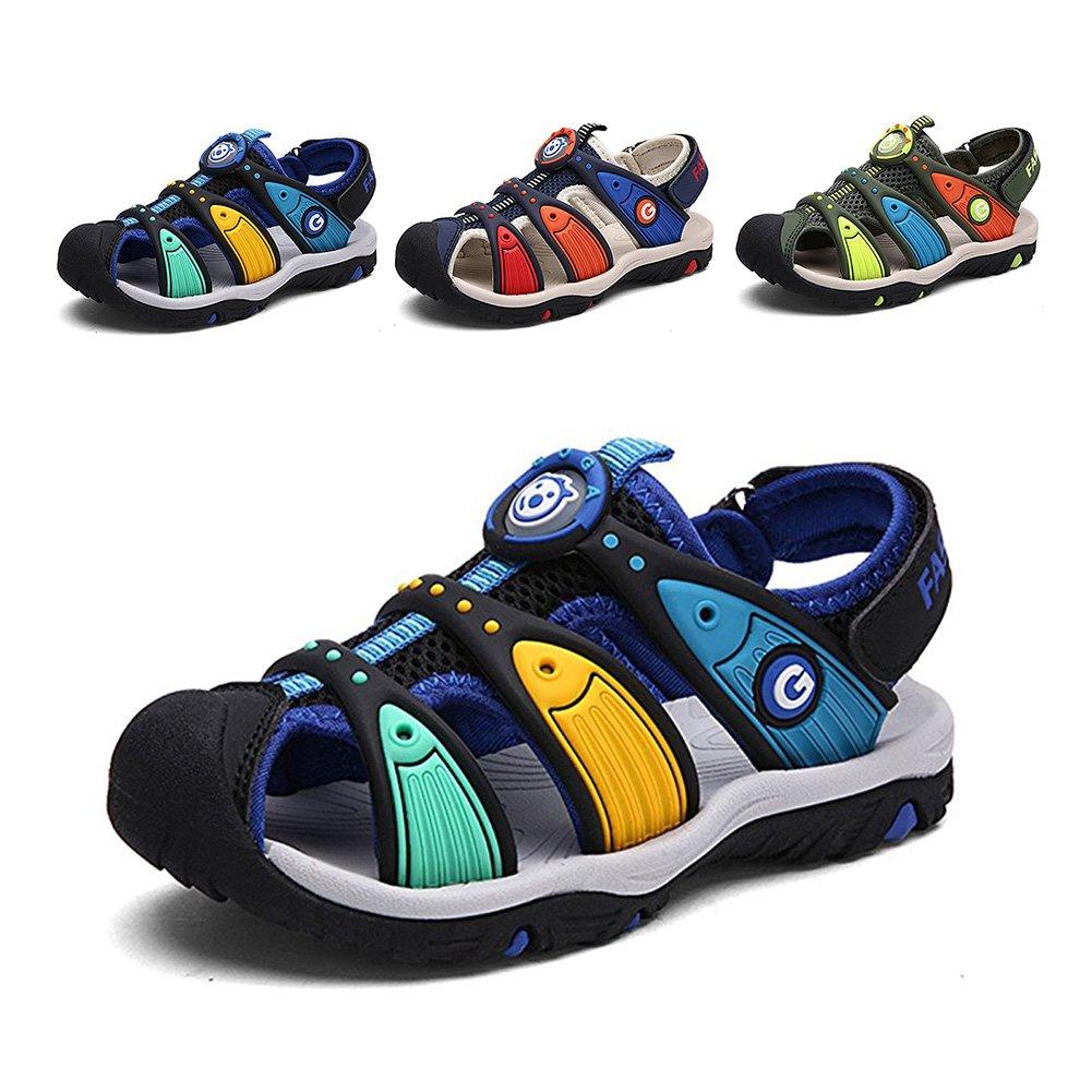 Toddler//Little Kid//Big Kid ZHIHONG Summer Strap Closed-Toe Outdoor Strap Sandal for Boys//Girls