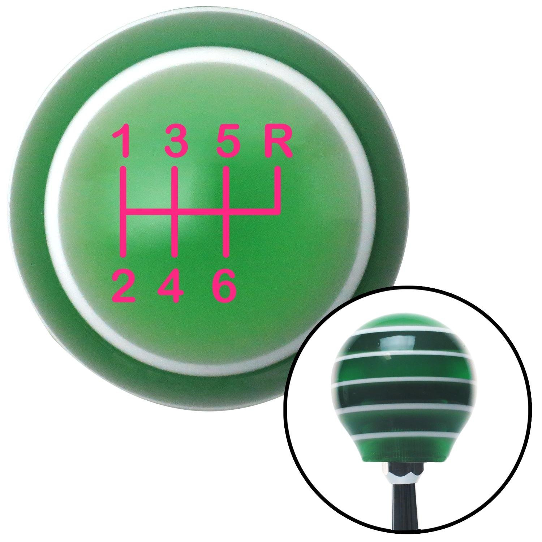 American Shifter 126999 Green Stripe Shift Knob with M16 x 1.5 Insert Pink Shift Pattern 26n