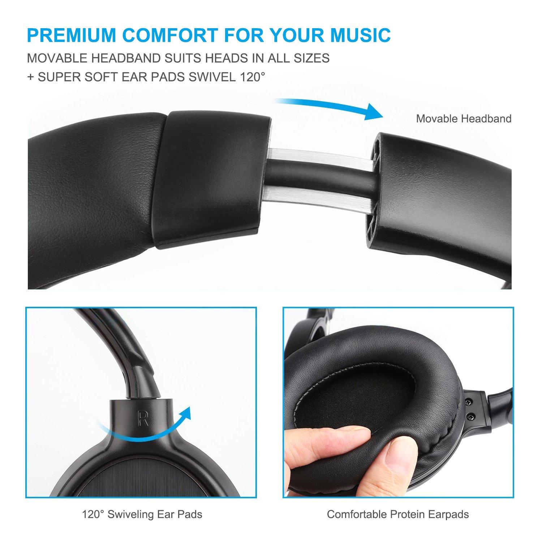 AlierGo SoundOn Arc Cuffie Bluetooth Senza Fili Auricolari Over-Ear  Wireless Stereo con Microfono 894c650ddd75
