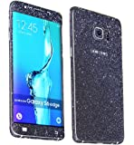 Heartly Sparking Bling Glitter Crystal Diamond Protective Film Whole Body Phone Skin Sticker For Samsung Galaxy A5 (2016) - Greyish Black