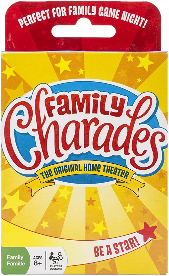 Amazon.com: Family Charades Card Game by Outset Media - Travel Friendly Family Charades Game - Includes Over 300 Charades - Perfect for Parties, Vacations, and Holidays - Ages 8+: Arts, Crafts & Sewing
