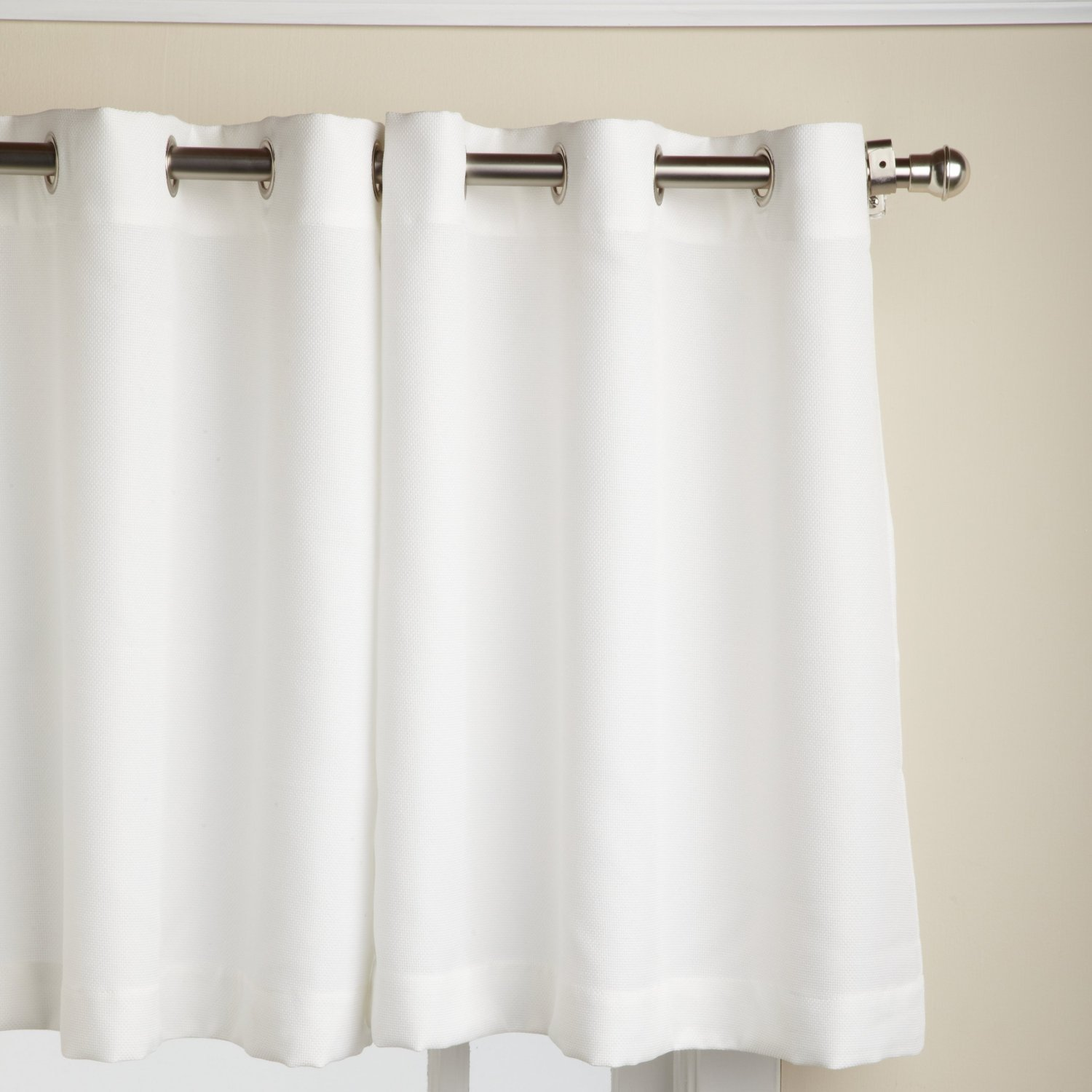 Amazon Lorraine Home Fashions Jackson 58 Inch X 24 Tier Curtain Pair White Kitchen