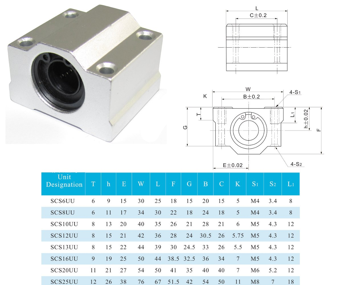 200mm Pr/äzisionswelle Linearf/ührung 8H6 /Ø 8mm CNC Set 3D Drucker DIY SK8 SCS8UU