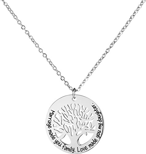 Amazon Com Awegift Daughter In Law Necklace Gift For Bridal