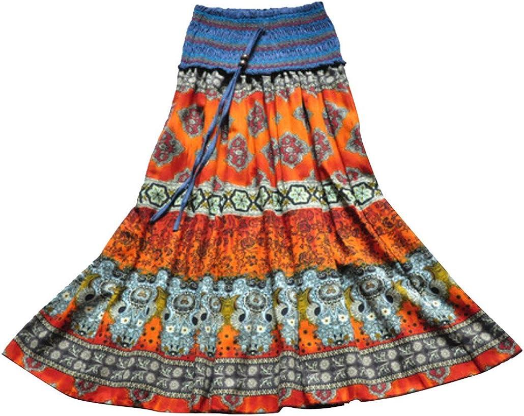 DEHANG Mujer Rayas Maxi Falda: Amazon.es: Ropa y accesorios