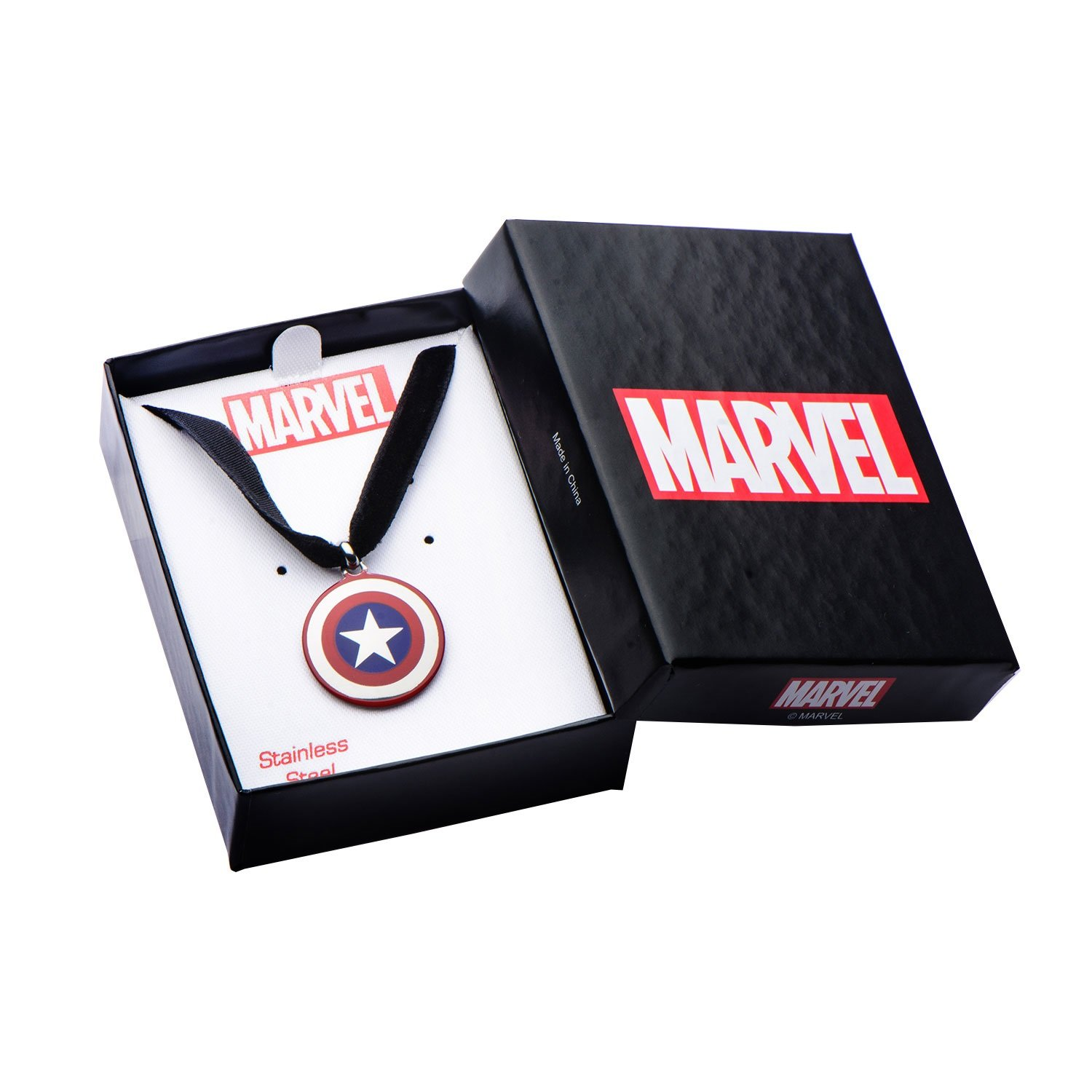 Womens Stainless Steel Captain America Shield Choker Necklace