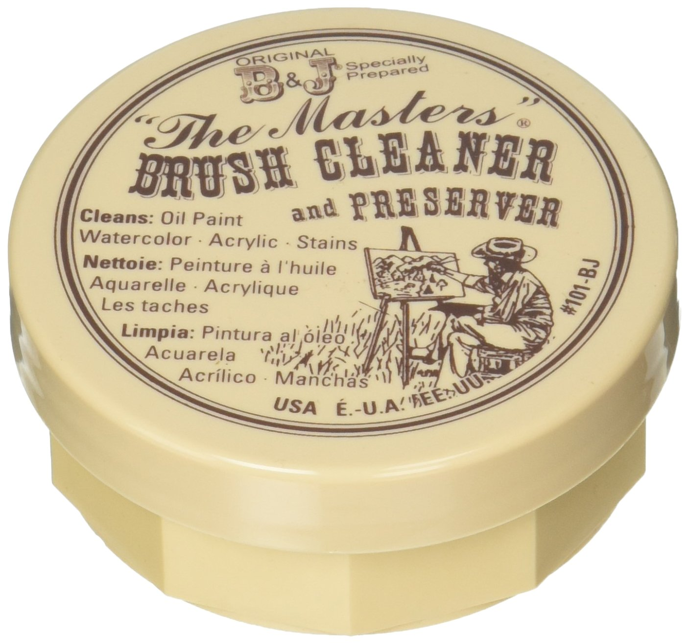 General Pencil 105-BP The Masters Brush Cleaner & Preserver 2.5 Ounces Carded-