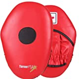 TurnerMAX Focus Pads Hook And Jab Mitts Kick Boxing Muay Thai Martial Arts Training