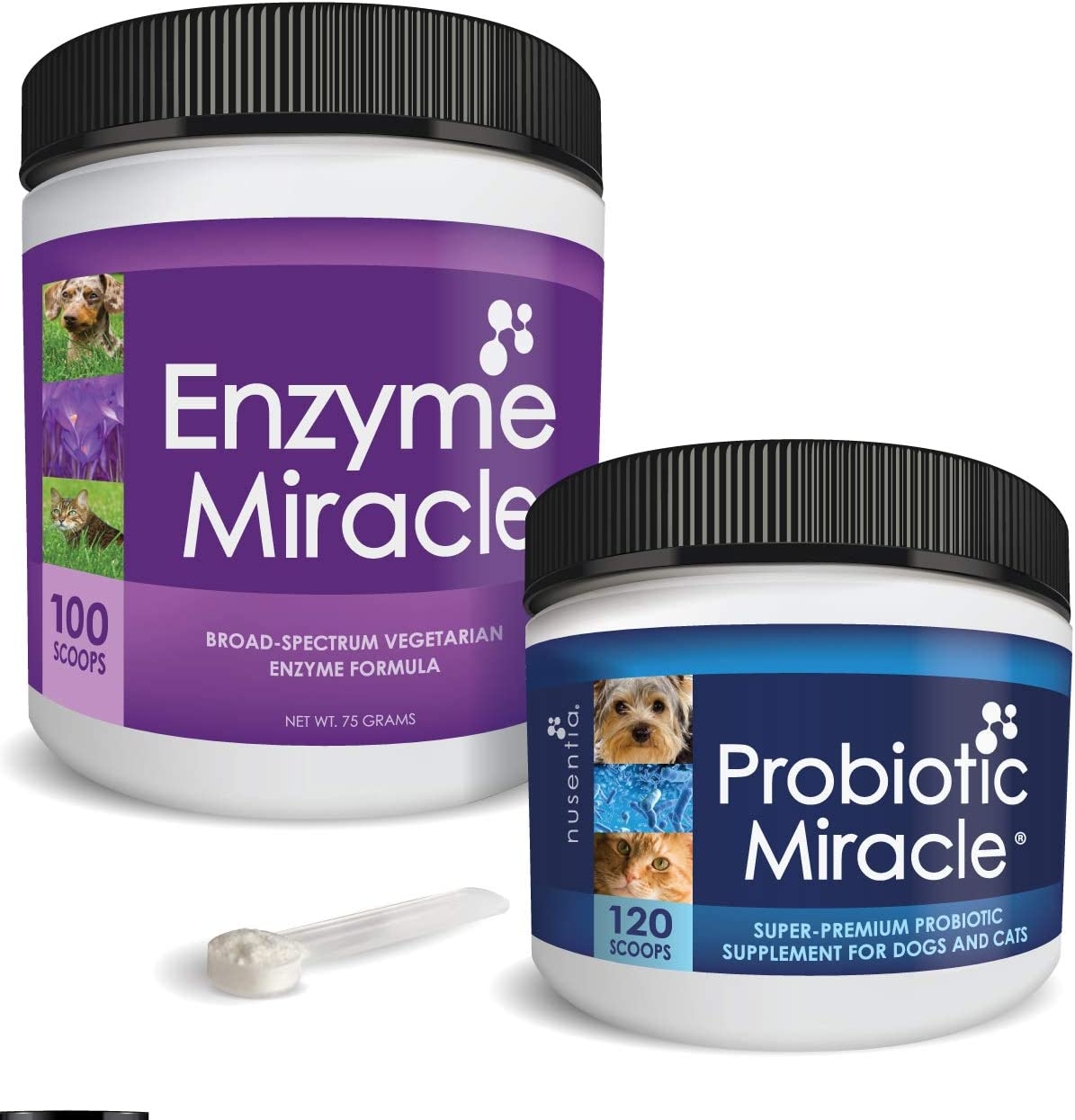 NUSENTIA The Miracle Pack - Natural Probiotics + Digestive Enzymes - Prebiotics - for Diarrhea, Gas, Loose Stool, Digestive Upset, & Allergies