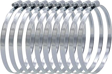 5x Colliers De Serrage Tuyau Pinces colliers pour tuyaux 100mm-120mm