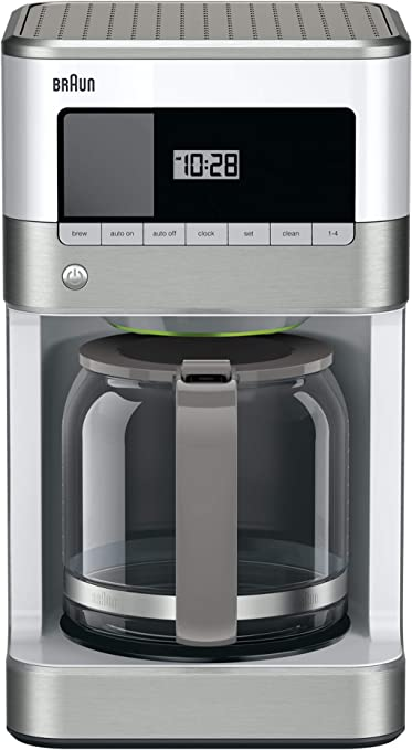 Braun KF6050WH BrewSense Drip Coffee Maker, White