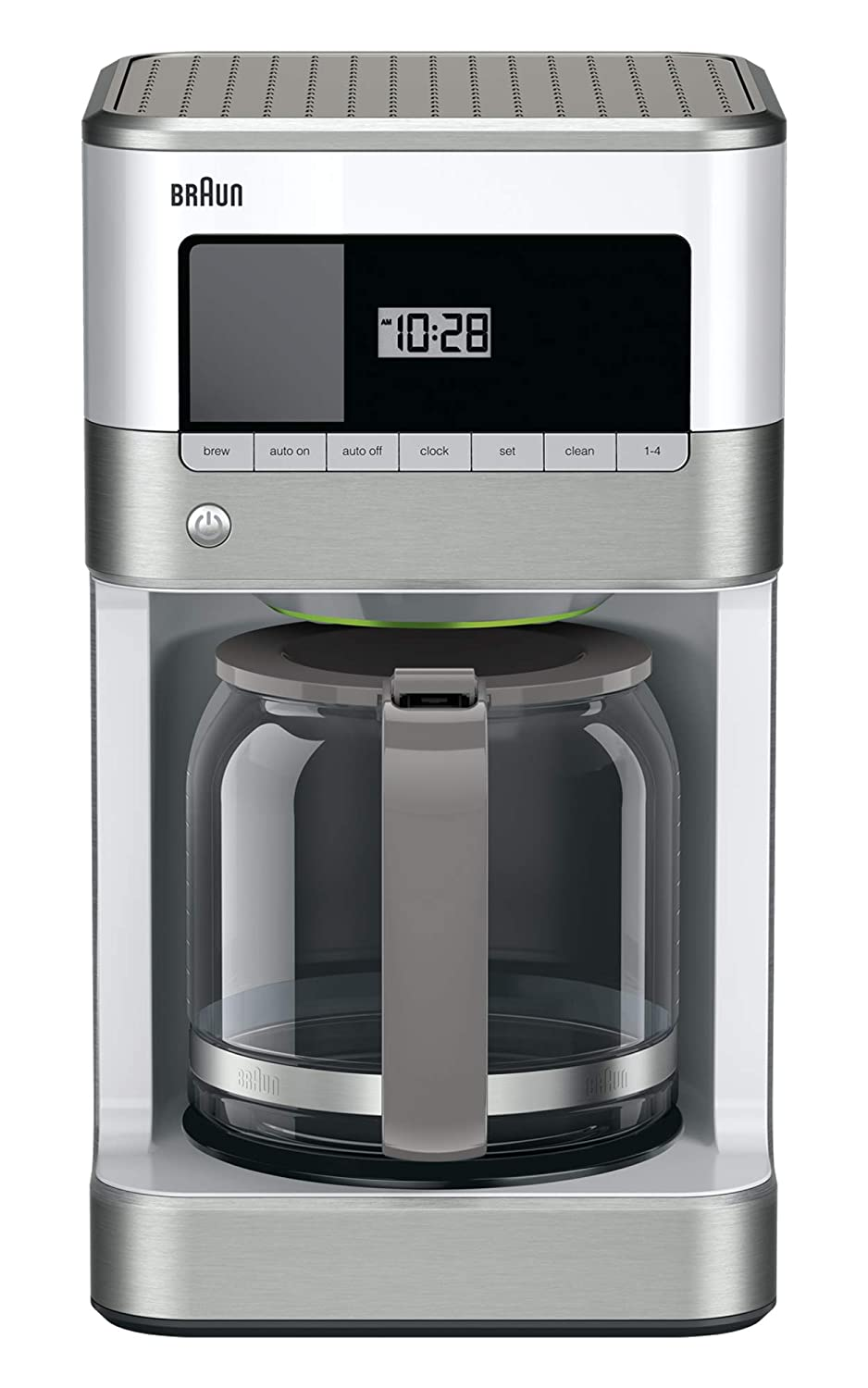 Braun KF6050WH Brewsense Drip Coffee Maker, 12-Cup white