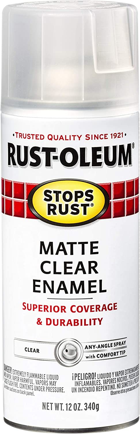 Rust-Oleum Stops Rust 285093 Spray Paint, 12 Oz, Matte Clear