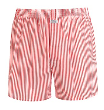 587627a8af Jockey Striped Woven Men's Boxer Shorts, Red/White at Amazon Men's Clothing  store: