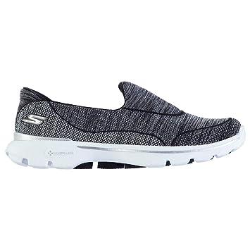 Skechers GOwalk 3 FitKnit Slip On Damen Schwarz & Weiß