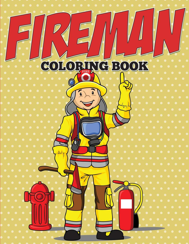 colour paint fireman painted colouring crayon book fire ...