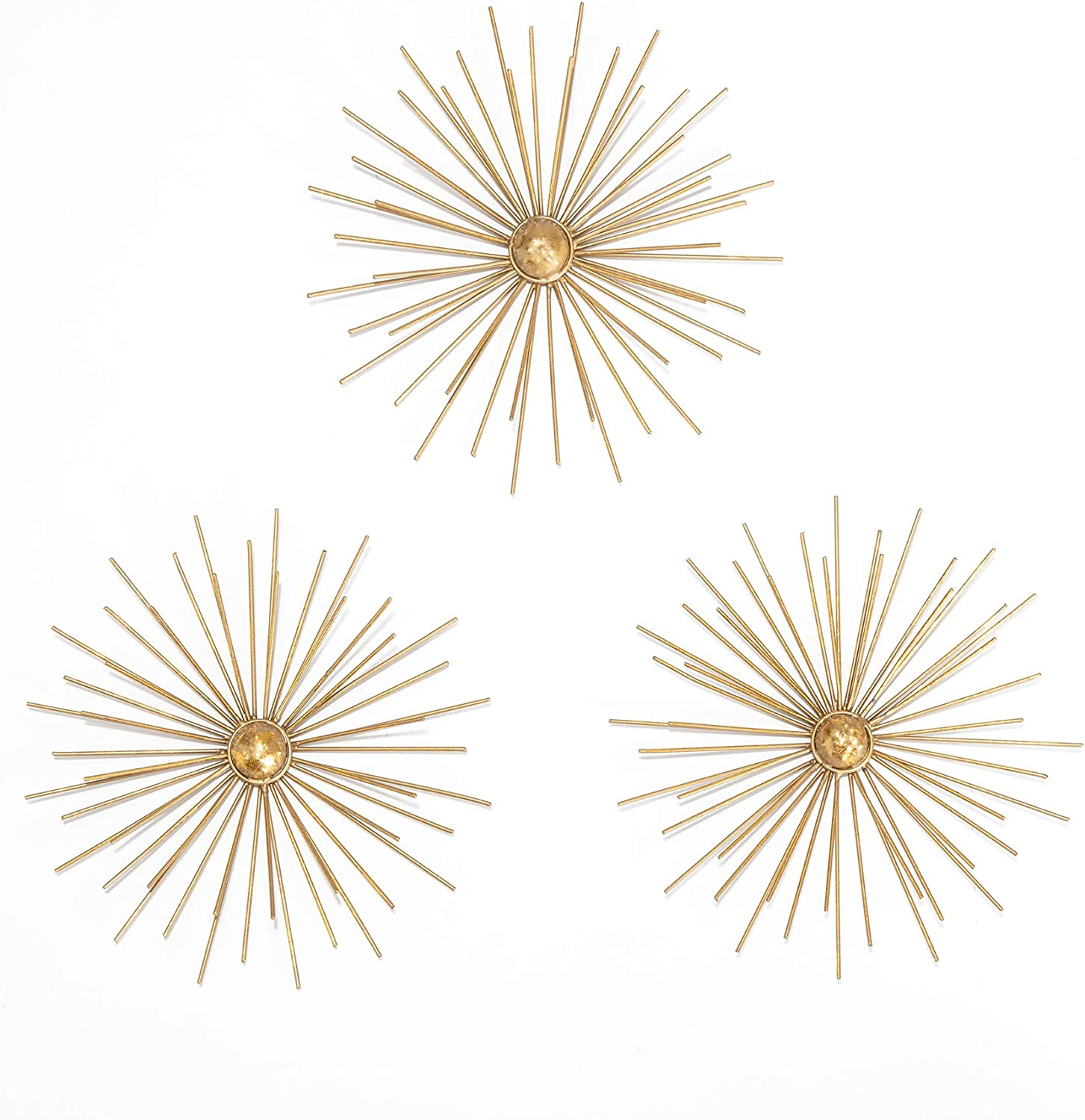 Habitat Cabers Gold Starbursts Metal Wall Art, metallic
