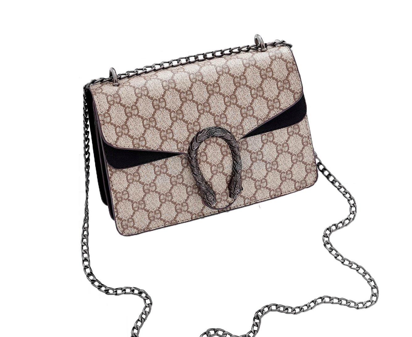 Cross-body Bag for Womens Handbag Single Printing Shoulder Bag Purse Messenger Bags (Black)
