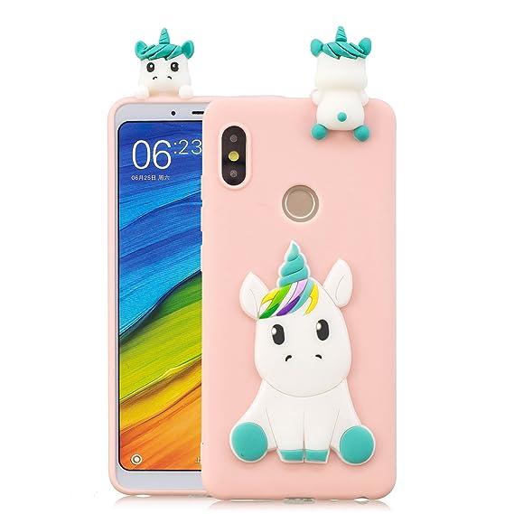 Xiaomi Mi A2 Case, Xiaomi Mi 6X Case, Mi A2 Cute Case, DAMONDY 3D Cute  Unicorn Cartoon Soft Gel Silicone Design Rubber Skin Thin Protective Cover