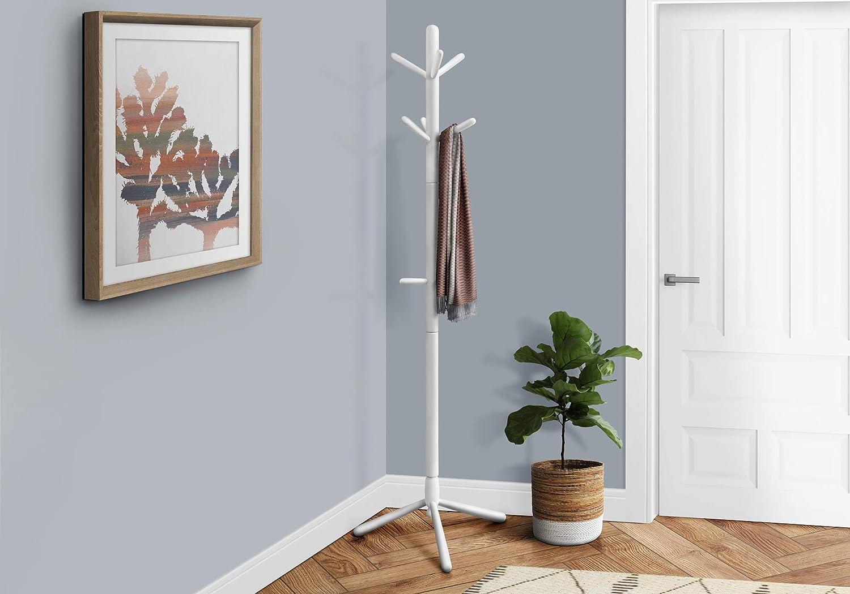 Amazon Com Coat Rack 69 H White Wood Contemporary Style Furniture Decor