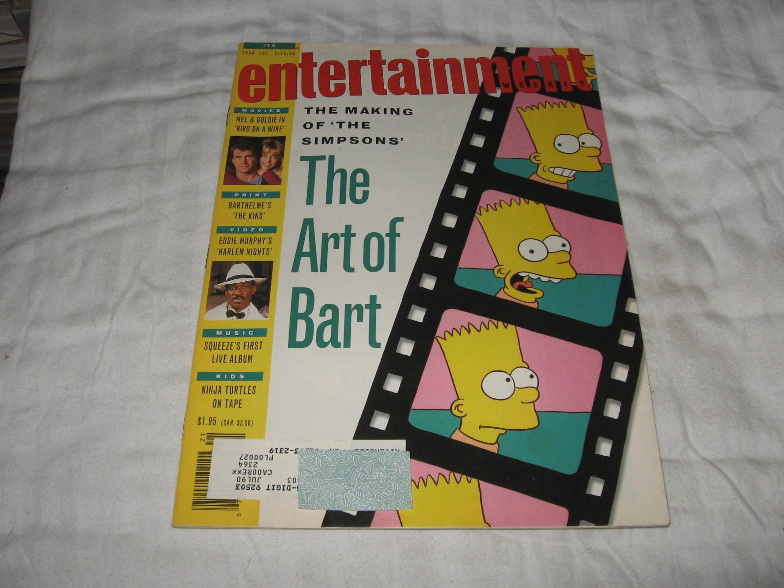Entertainment Weekly Magazine (BART SIMPSON...The Making Of ...
