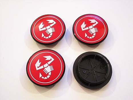 Abarth Tapas para tapacubo - Llantas embellecedoras para ruedas de 55 mm A112 Fiat 124,