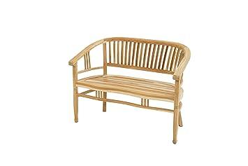 Ploß Sitzbank New Orleans 120 Cm Holz Gartenbank Für 2 Personen Balkonbank Halbrund Mit Armlehnen Rückenlehne Massivholzbank Mit