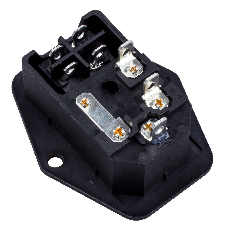 3 Pin IEC320 C14 Inlet Modul Steckdose Schalter Stecker Strom ...