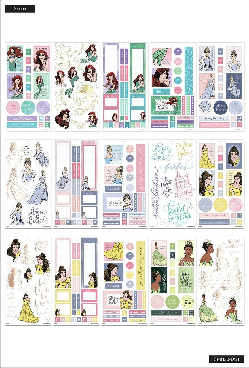 The Happy Planner HP Disney Stickers, Strong at Heart, 560/Pkg: Arts, Crafts & Sewing