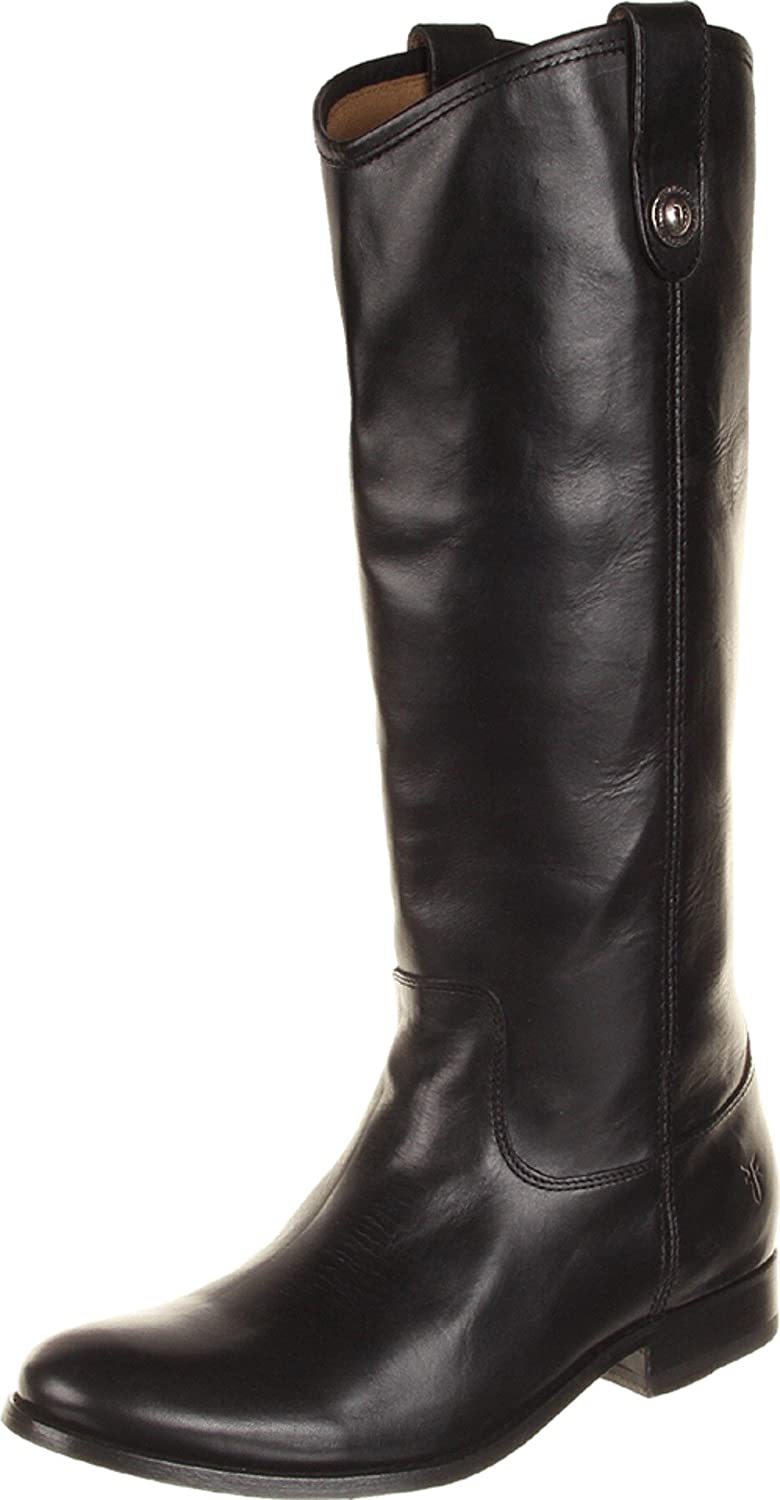 Black Wide Calf Smooth Vintage Leather Frye Women's Melissa Button Boot