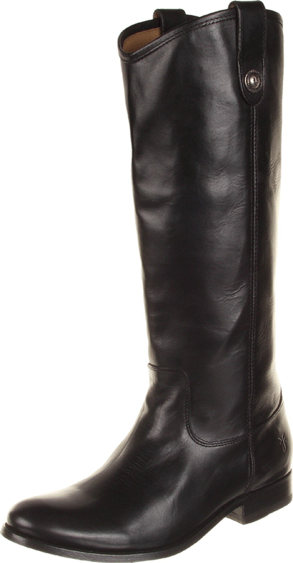 FRYE Women's Melissa Button Boot, Black Wide Calf Smooth Vintage Leather, 8 M US