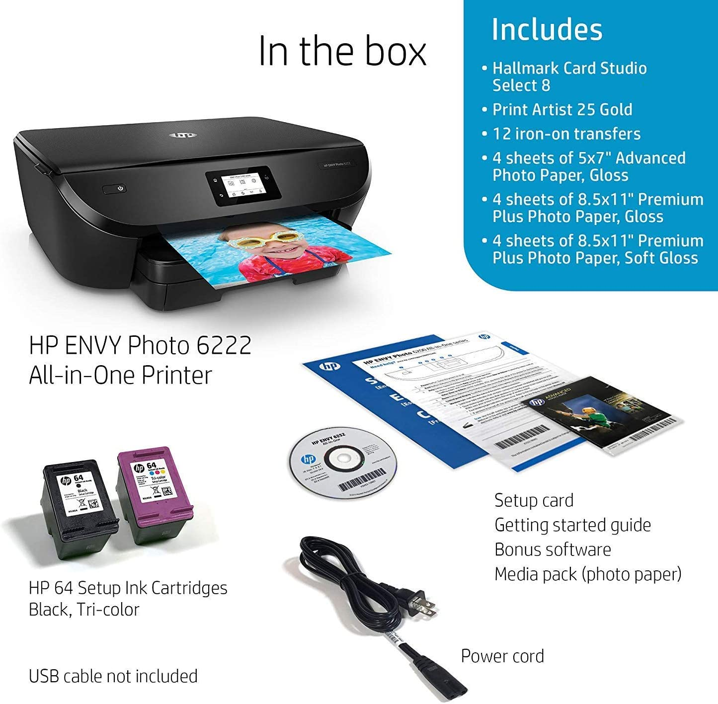 Amazon.com: Impresora fotográfica HP ENVY Photo 6255 todo en ...