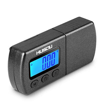 Musou Digital Turntable Stylus Force Scale Gauge 0.01g Blue LCD Backlight,Tracking Force Pressure Gauge/Scale for Tonearm Phono Cartridge