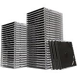 イーサプライ CD DVD ケース ブラック 10mmプラ ケース 50枚セット EZ2-FCD024BK