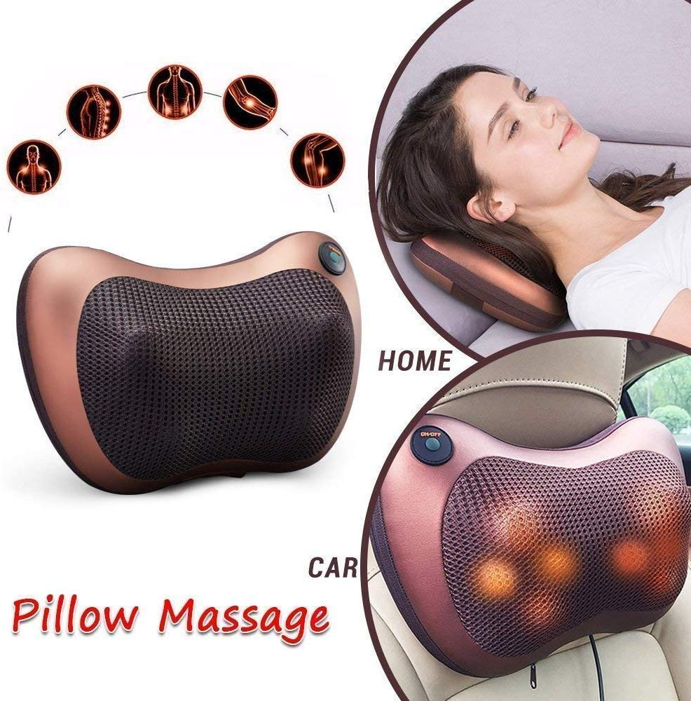 Cosmetic Hub Electronic Neck Cushion Full Body Massager with Heat for pain  relief Massage Machine for Neck Back Shoulder Pillow Massager - Swiss  Relaxation therapy (Brown): Amazon.in: Health & Personal Care