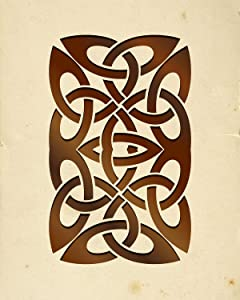 Celtic Infinity Knot - Wall Decor Art Print on a beige background - 8x10 unframed Celtic-themed print - great gift for people of Celtic descent or those interested in the culture