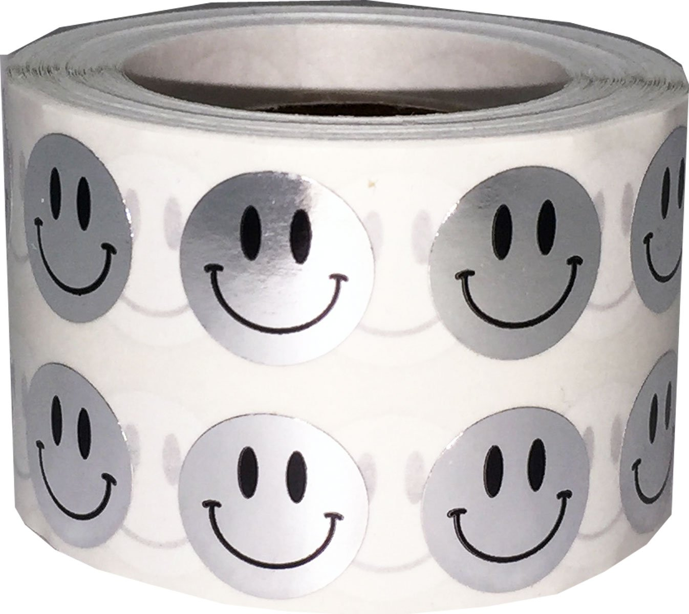 Fluorescente Verde Smiley Faccia Cerchio Punto Adesivi, 13 mm 1/2 Pollice Rotondo, 1000 Etichette su Rotolo InStockLabels.com