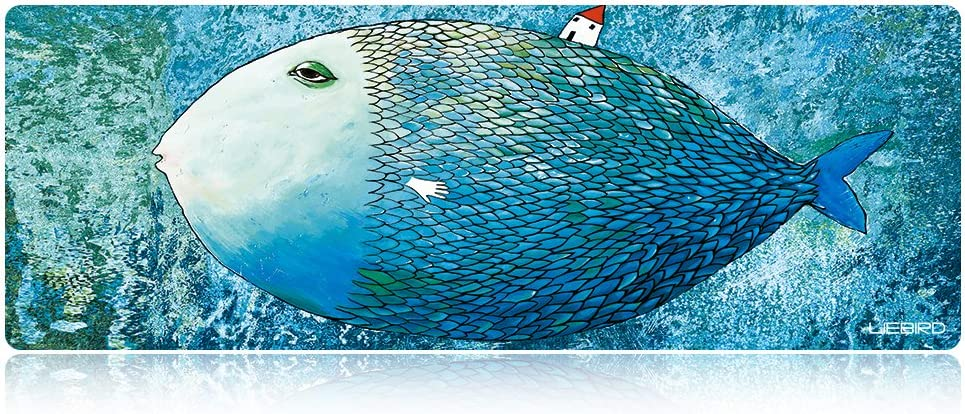 Portable with Extended XXL Size LIEBIRD Extended XXXL Gaming Mouse Pad Special Treated Textured Weave with Precision Control Adorkable Fish Non-Slip Rubber Base Dimension