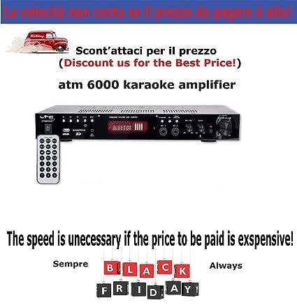 LTC Audio ATM 6000 BT amplificador Hi-Fi para karaoke Bluetooth 2 x 50 W