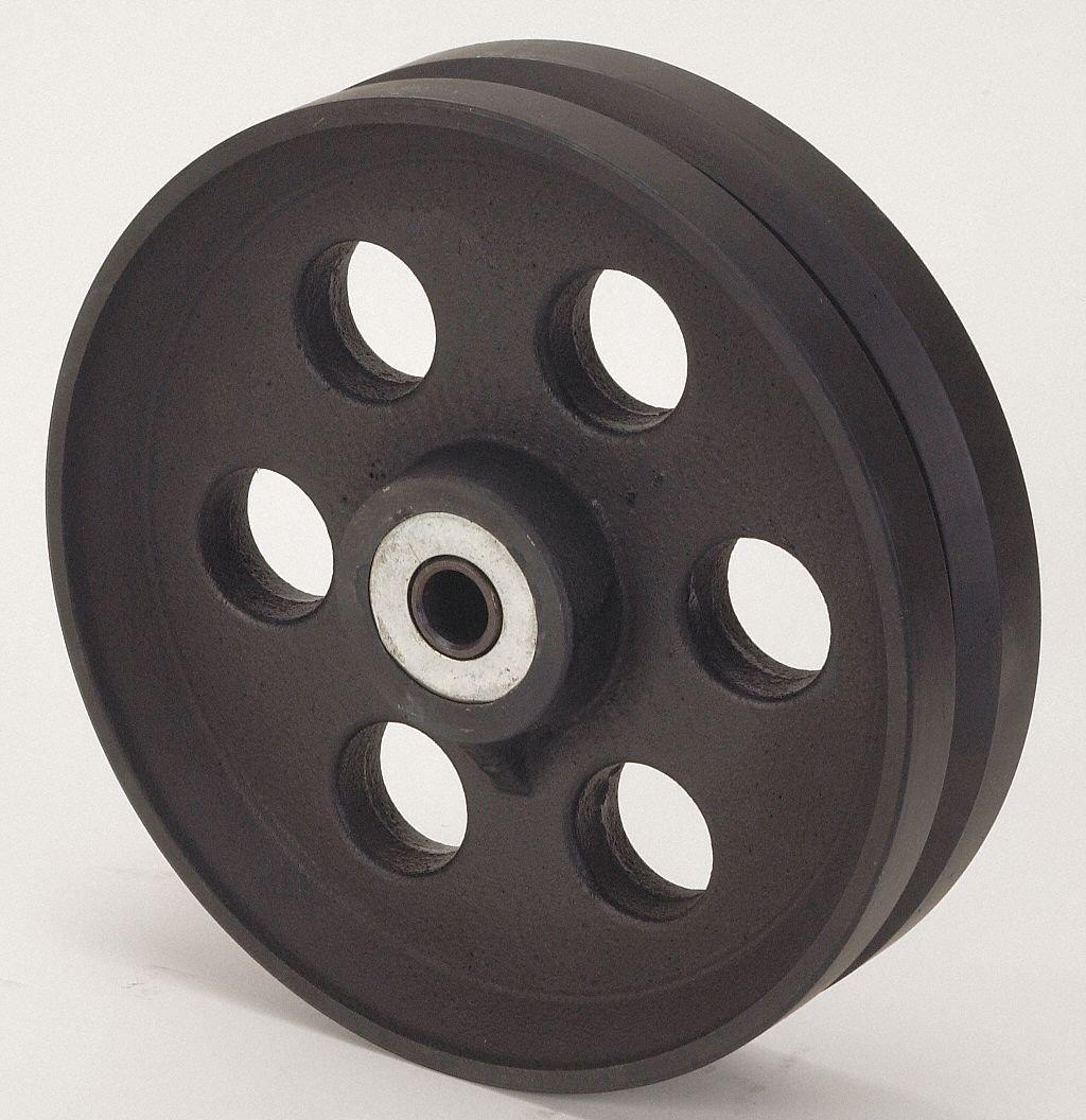 10'' Caster Wheel, 3000 lb. Load Rating, Wheel Width 2-1/2'', Cast Iron, Fits Axle Dia. 3/4''
