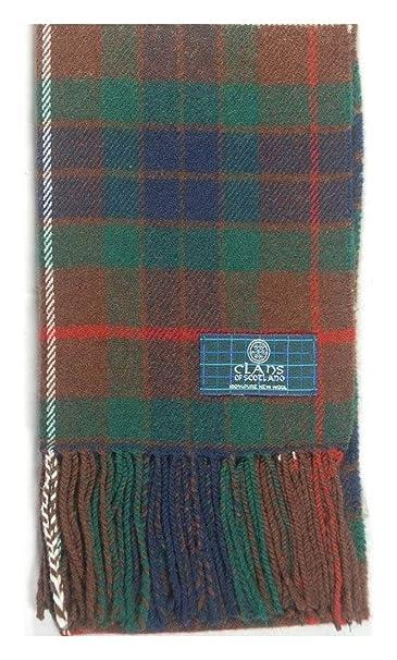 77025bba713 Macdonald Sporrans Écharpe en laine d agneau Clan Fraser Hunting Motif  tartan moderne  Amazon.fr  Vêtements et accessoires