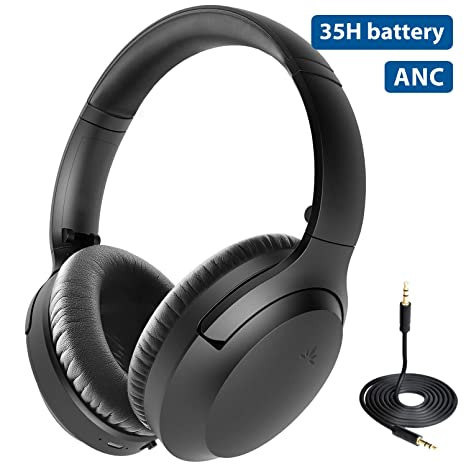 Best Wired Headphones 2020.2020 Avantree Aria Bluetooth Active Noise Cancelling Headphones With Mic Good Sound Replaceable Ear Pads Spacious 35h Wireless Wired Anc Over Ear