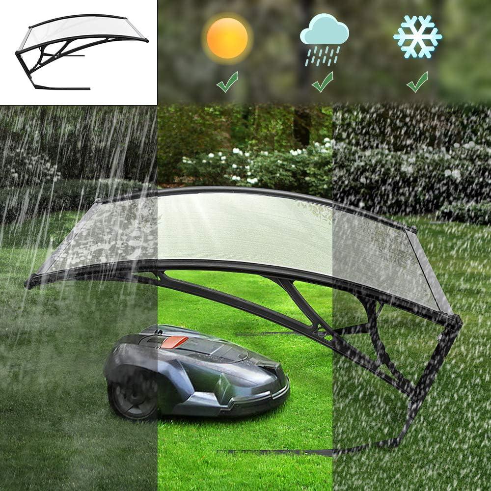 Turefans Caseta para Robots cortacésped,Refugio para Robot segador, protección del Sol y Las tormentas, 102 x 78.3 x 34 cm (Gris Claro)
