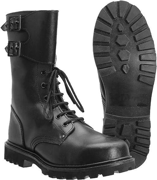 Miltec - Botas militares de piel, del ejército francés, negro (negro), 44