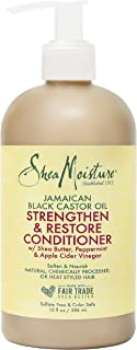 product image for SheaMoisture Strengthen and Restore Rinse Out Hair Conditioner to Intensely Smooth and Nourish Hair 100% Pure Jamaican Black Castor Oil with Shea Butter, Peppermint and Apple Cider Vinegar 13 oz