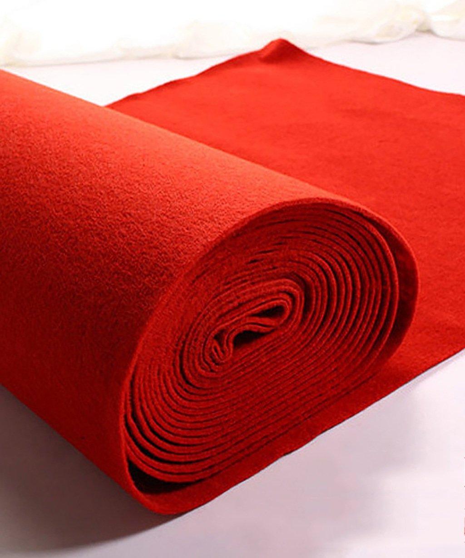 QiangDa Tappeto Nuziale Tappeti Sposa Moquette monouso, Spazzolato Tessuti Non Tessuti, Rosso, Spessore 2 mm Personalizzabile Opzionale (Dimensioni   1m10m)