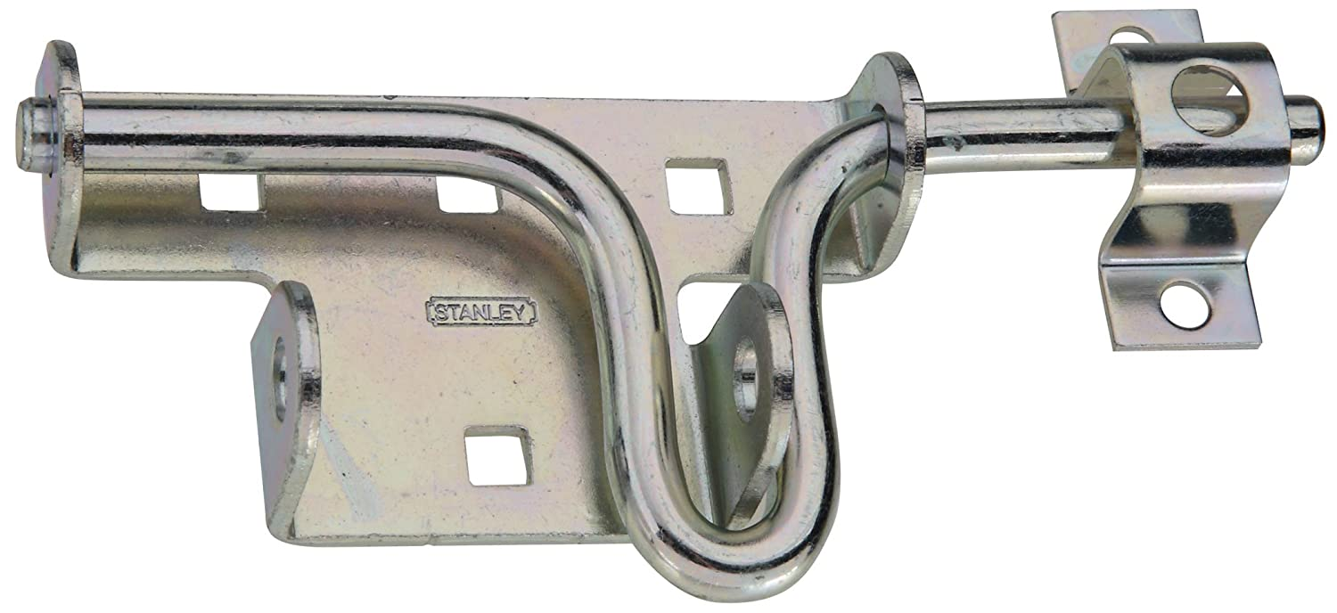 Lot of 2 Stanley NEW Heavy Duty Universal Slide Action Gate Door Latch Lock Zinc