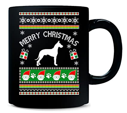 Amazon.com: Great Dane Ugly Christmas Sweater Style Gifts For Dog ...